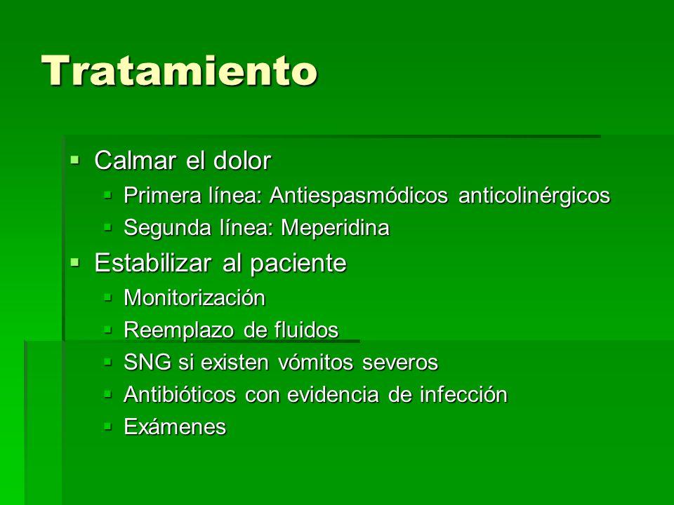 Tratamiento Calmar el dolor Estabilizar al paciente
