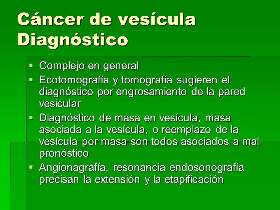 Cáncer de vesícula Diagnóstico