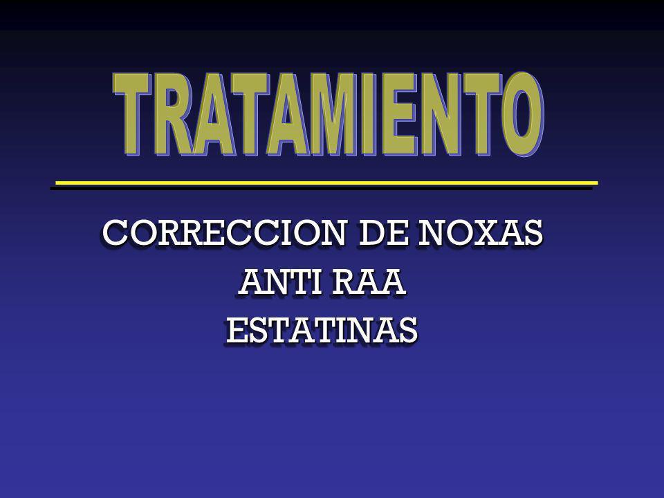 TRATAMIENTO CORRECCION DE NOXAS ANTI RAA ESTATINAS