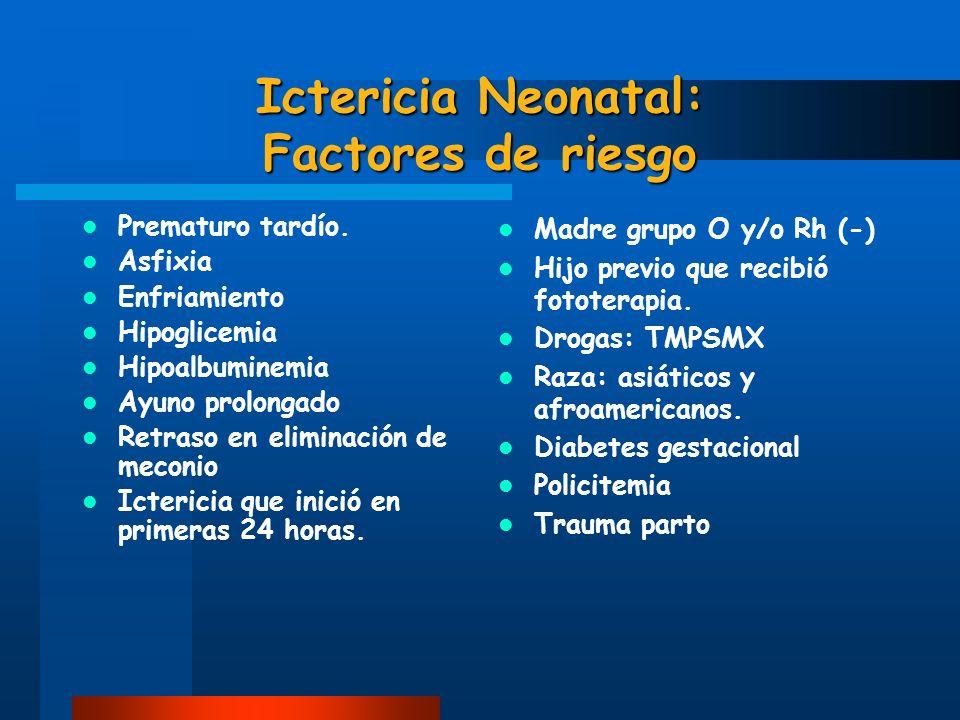 Ictericia Neonatal: Factores de riesgo