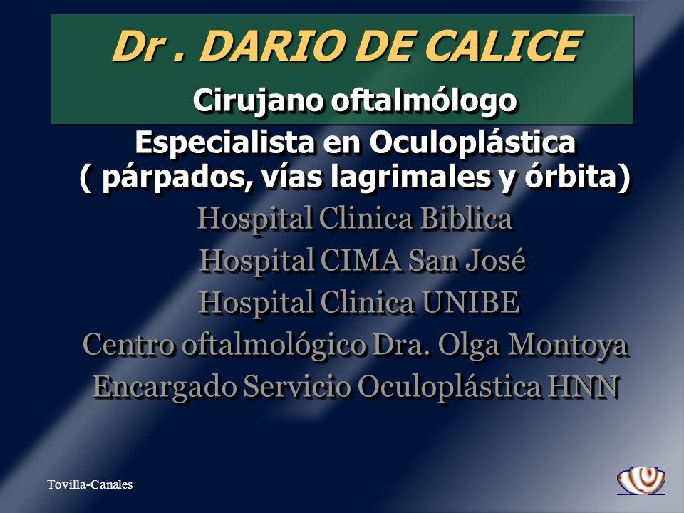 Especialista en Oculoplástica ( párpados, vías lagrimales y órbita)