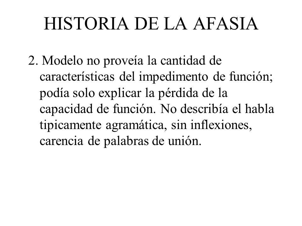 HISTORIA DE LA AFASIA