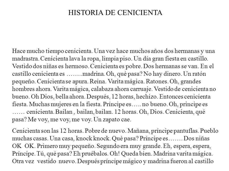 HISTORIA DE CENICIENTA
