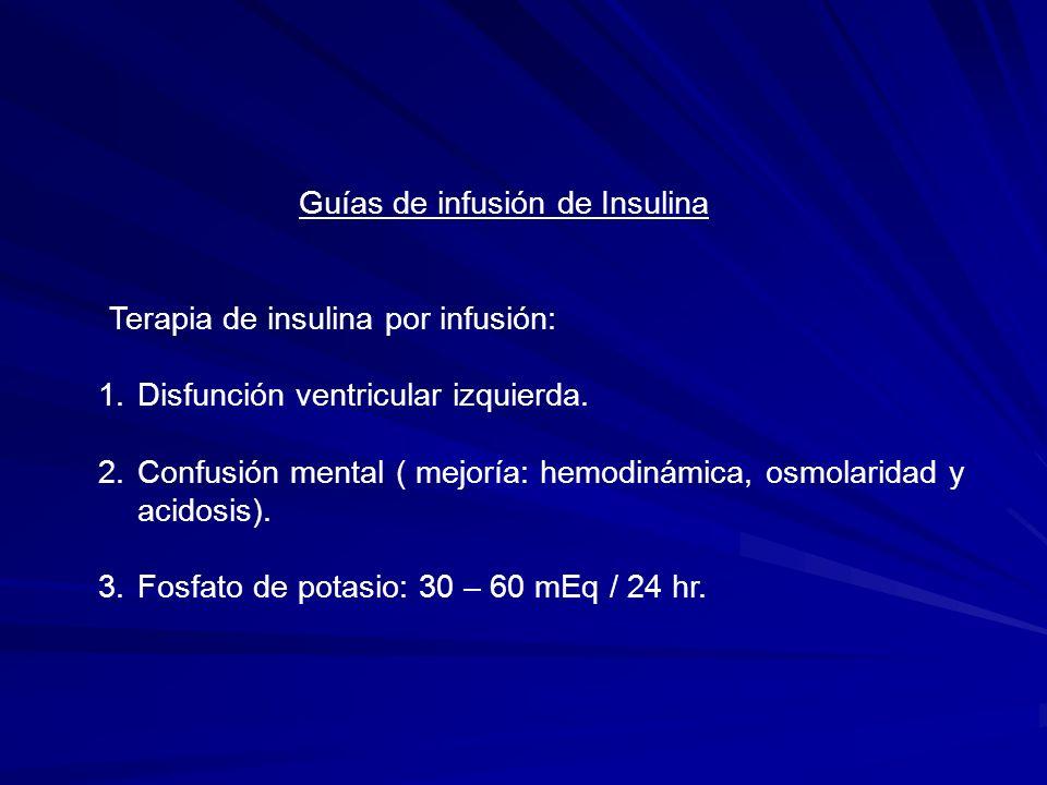 Guías de infusión de Insulina