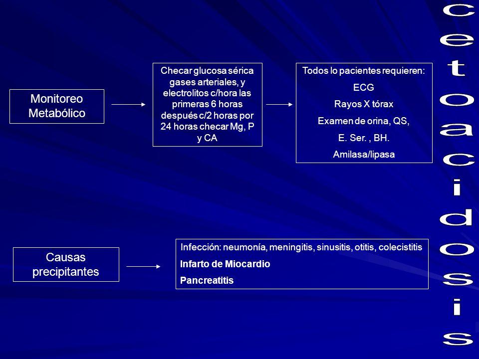 cetoacidosis Monitoreo Metabólico Causas precipitantes