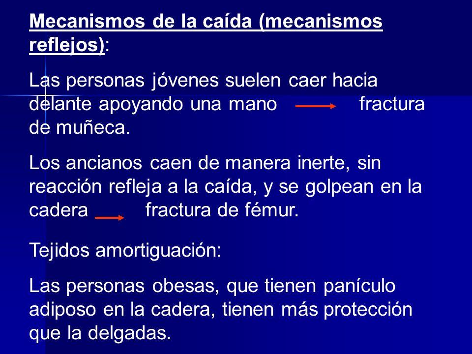 Mecanismos de la caída (mecanismos reflejos):