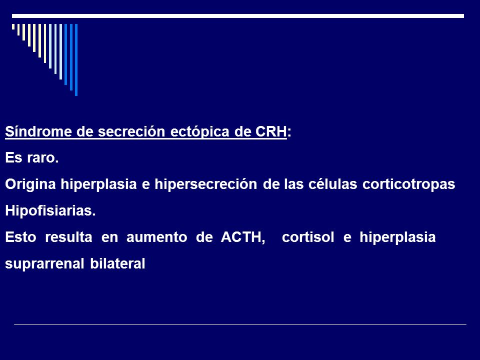 Síndrome de secreción ectópica de CRH: