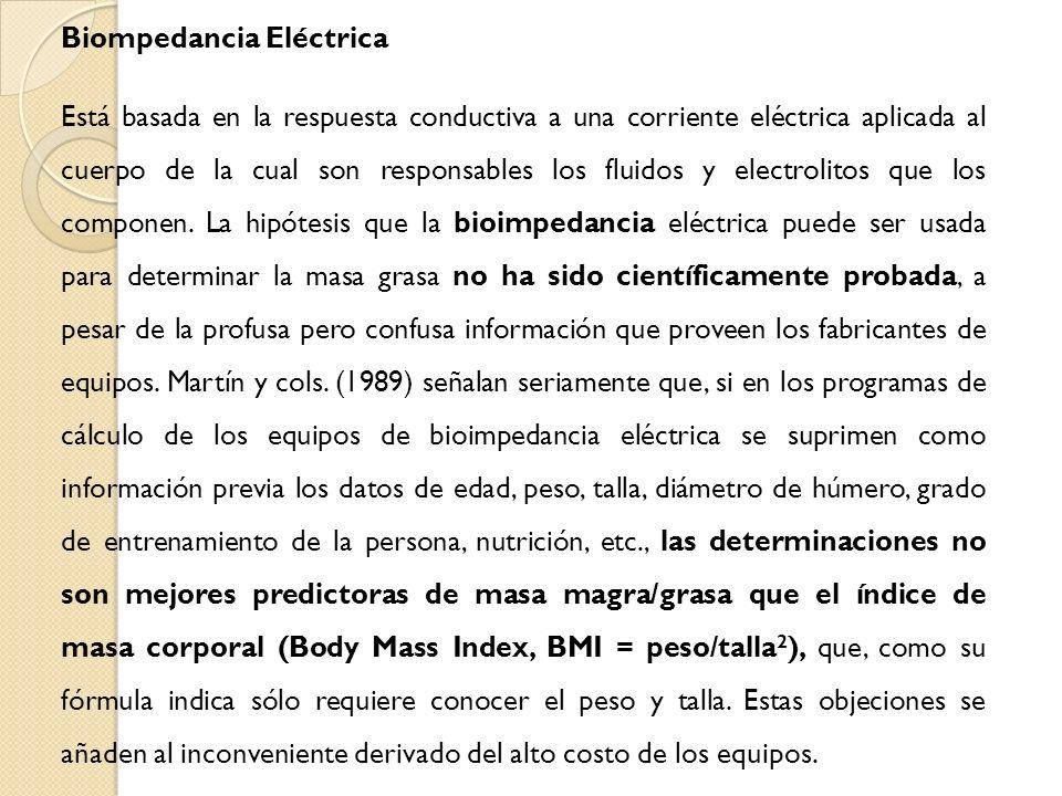 Biompedancia Eléctrica