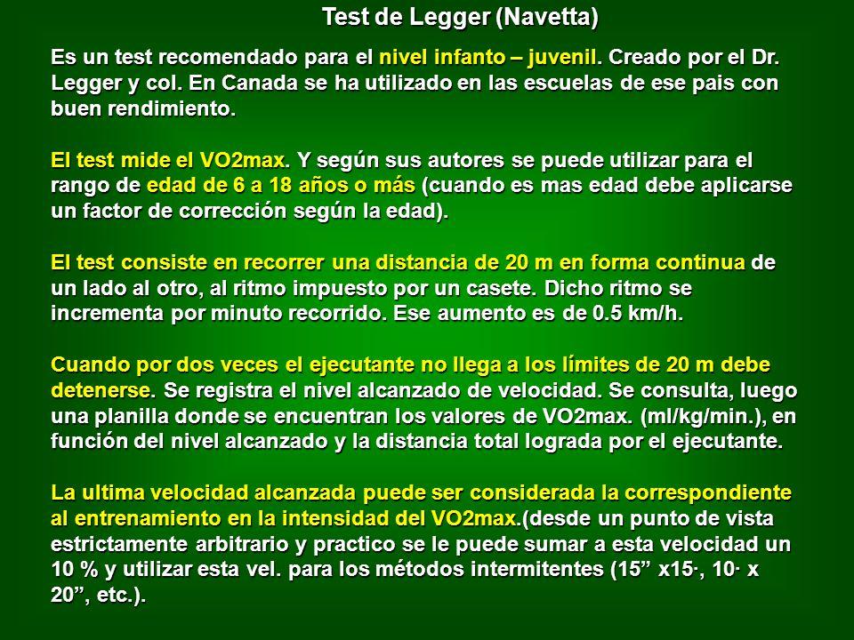 Test de Legger (Navetta)