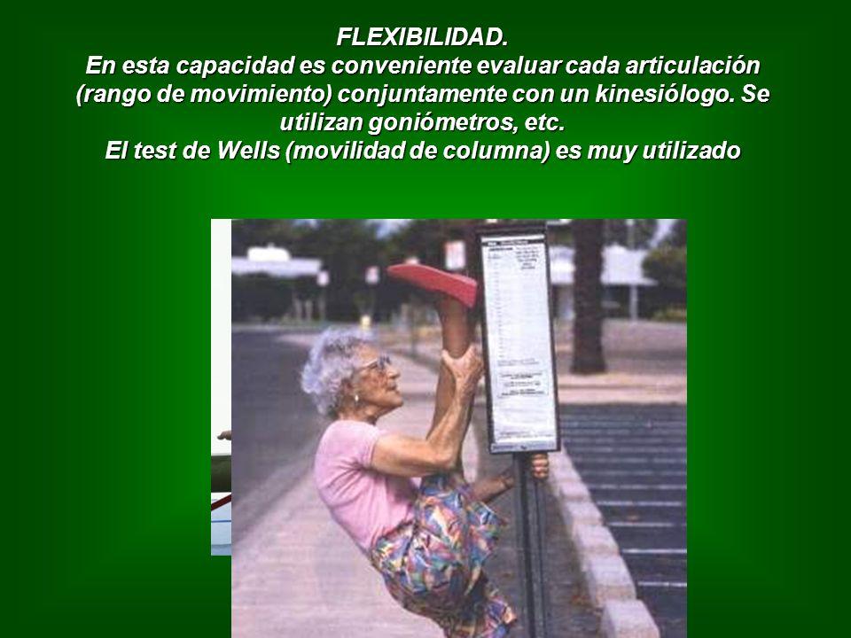 El test de Wells (movilidad de columna) es muy utilizado
