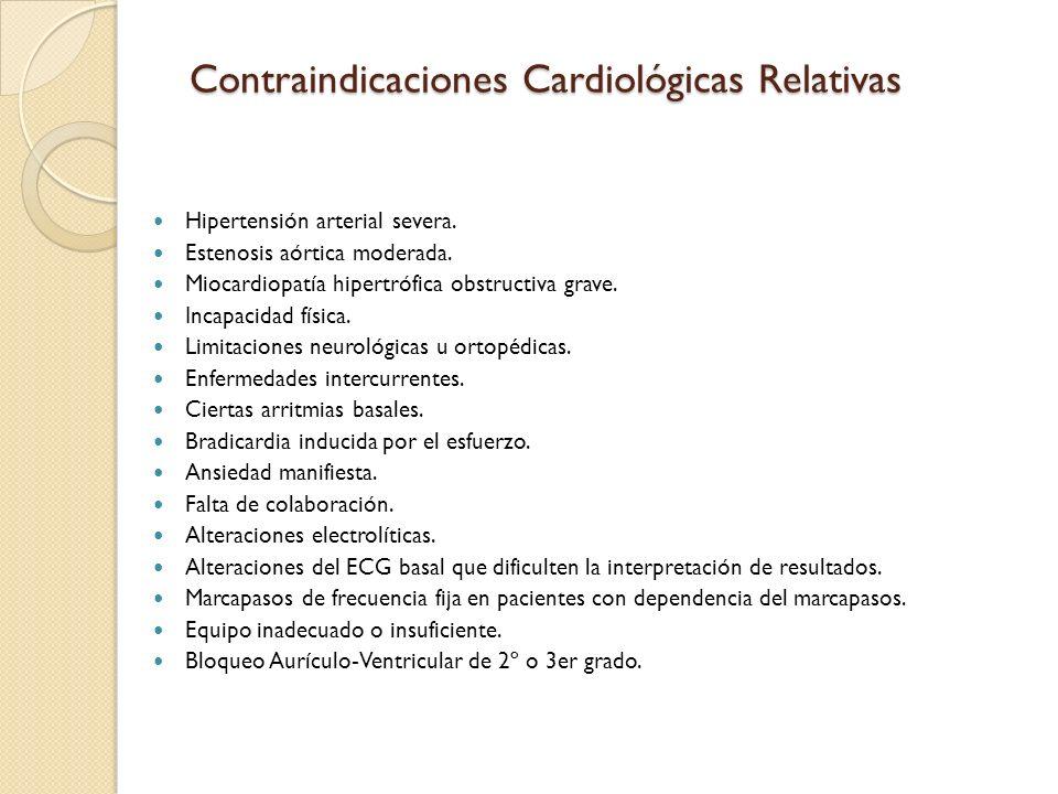 Contraindicaciones Cardiológicas Relativas