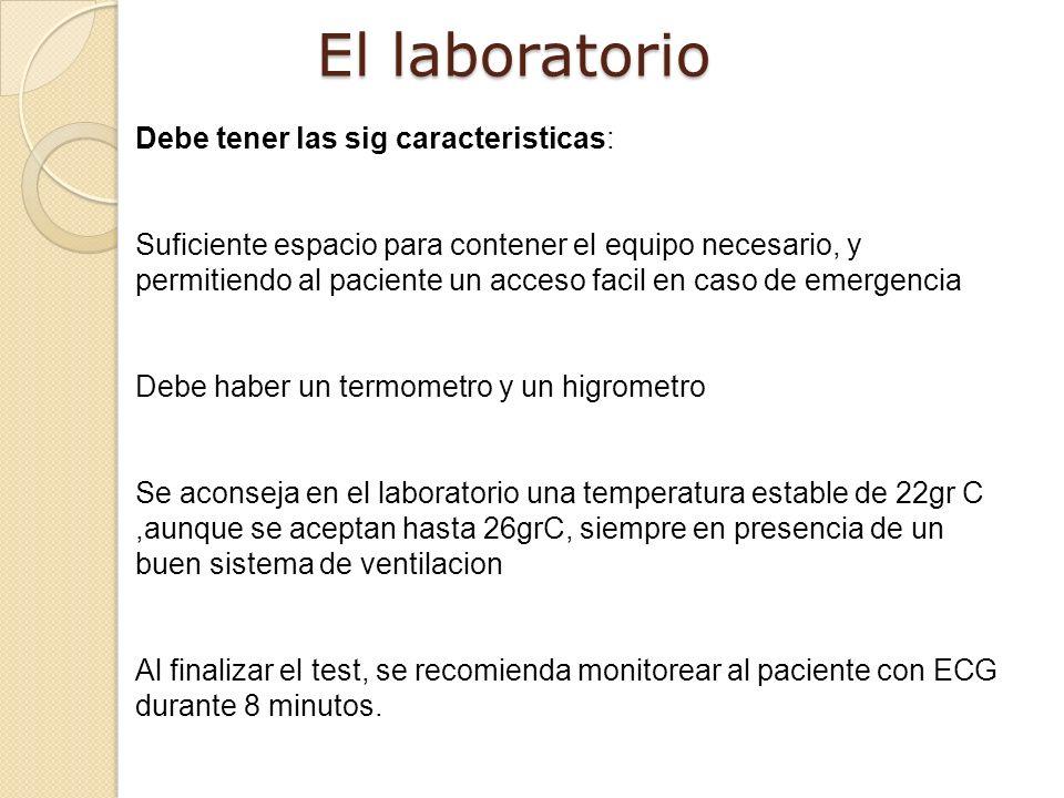 El laboratorio Debe tener las sig caracteristicas: