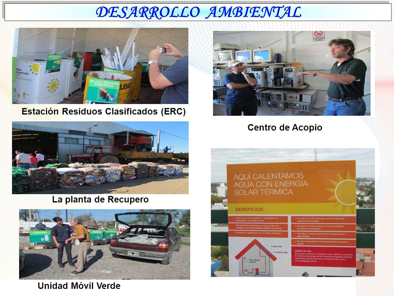 DESARROLLO AMBIENTAL Estación Residuos Clasificados (ERC)