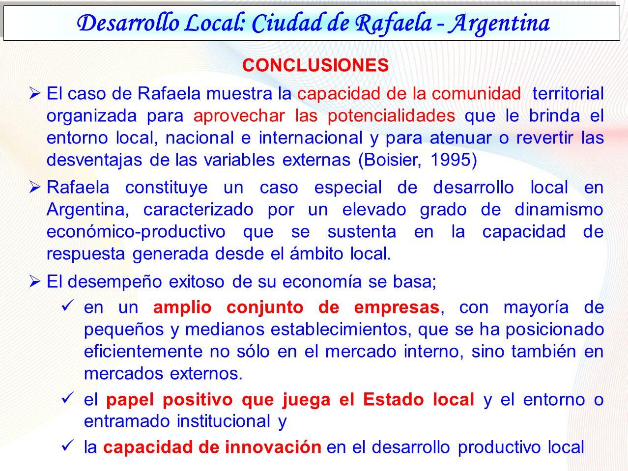 Desarrollo Local: Ciudad de Rafaela - Argentina