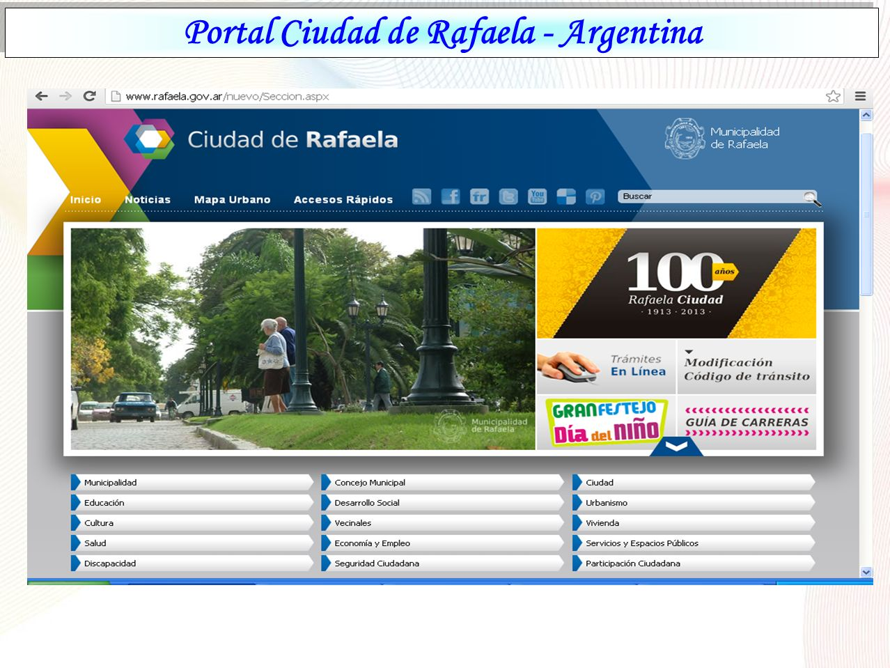 Portal Ciudad de Rafaela - Argentina