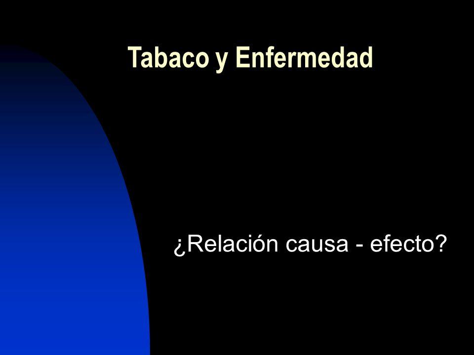 Tabaco y Enfermedad ¿Relación causa - efecto