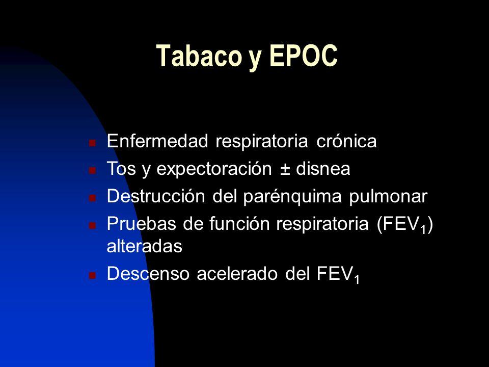 Tabaco y EPOC Enfermedad respiratoria crónica