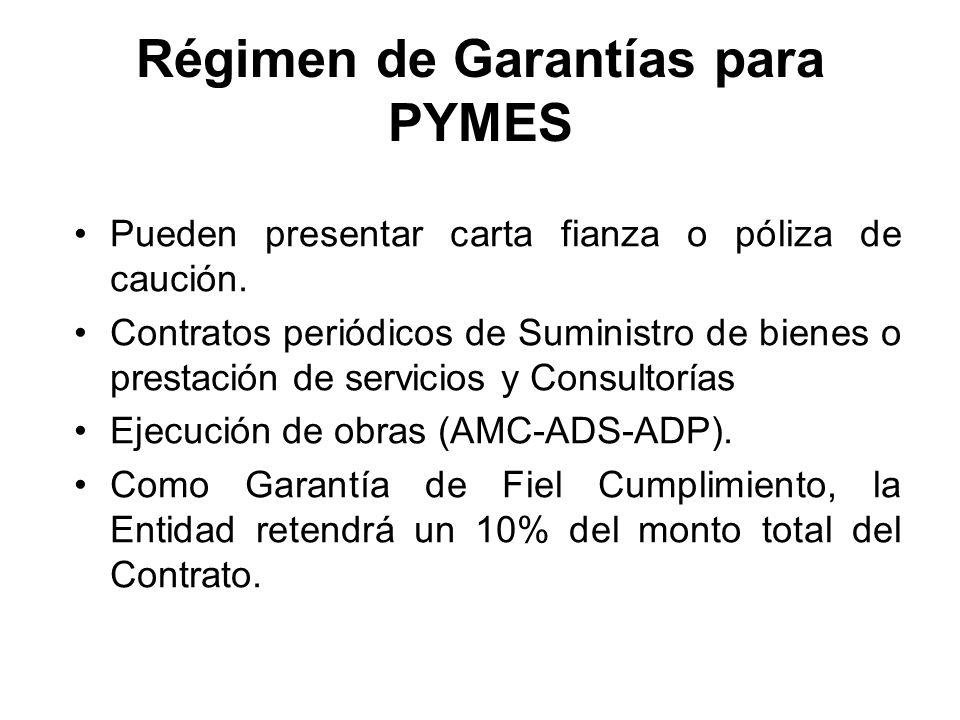 Régimen de Garantías para PYMES