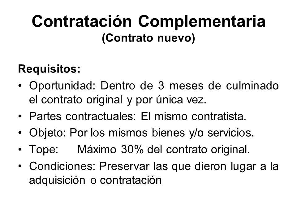 Contratación Complementaria (Contrato nuevo)