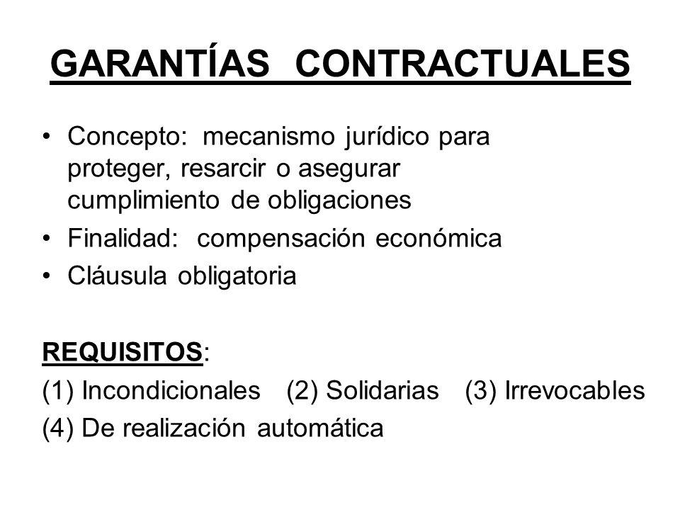 GARANTÍAS CONTRACTUALES