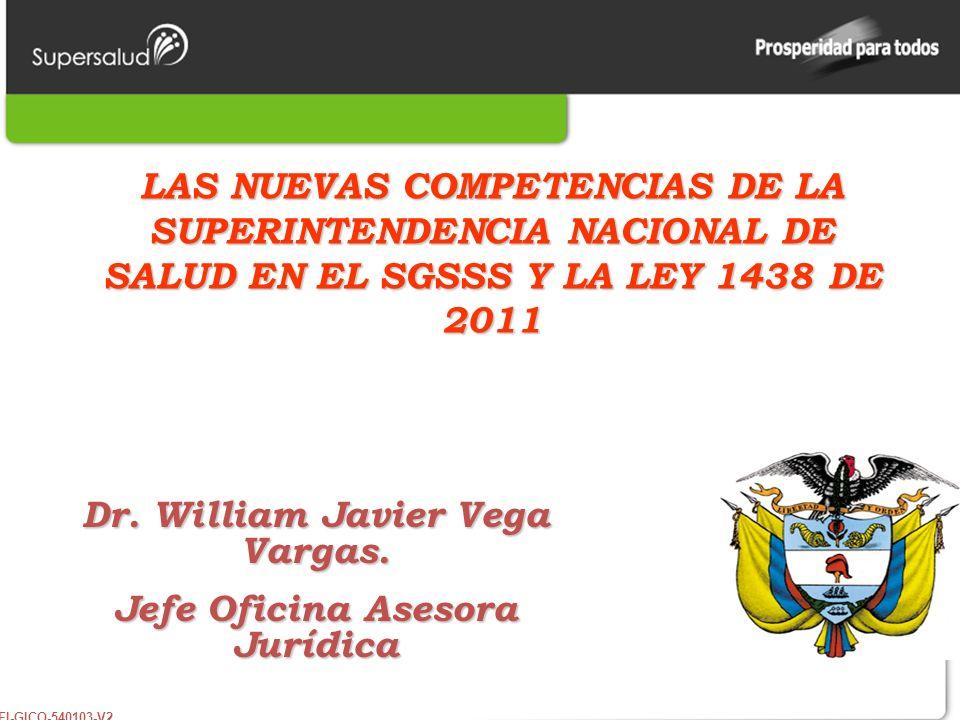 Dr. William Javier Vega Vargas. Jefe Oficina Asesora Jurídica
