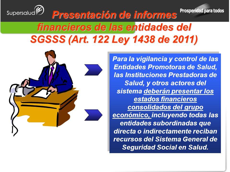 Presentación de informes financieros de las entidades del