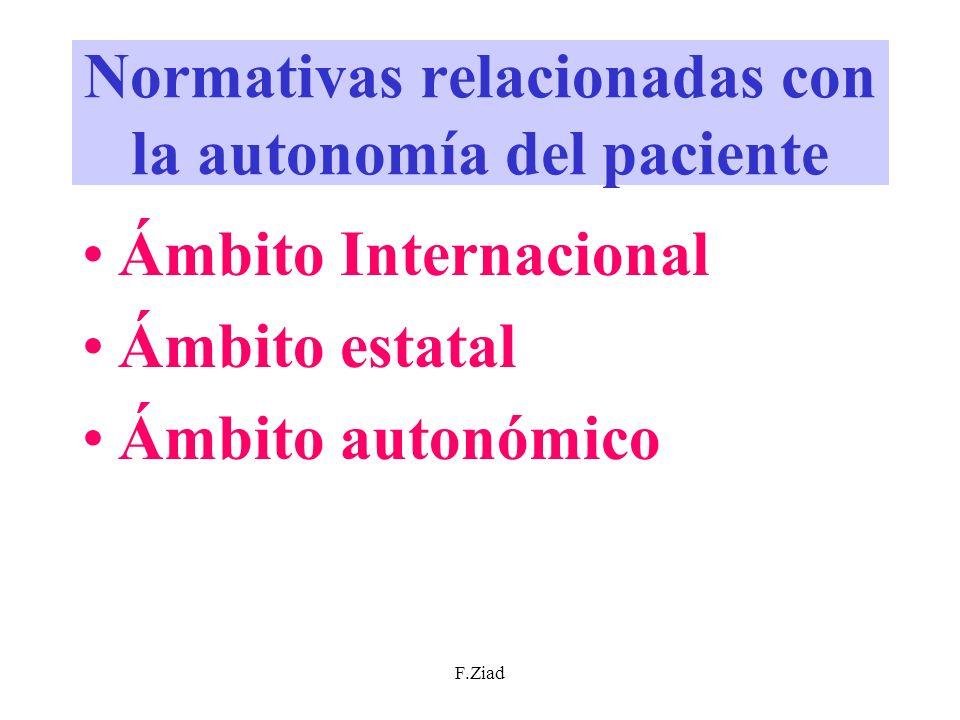 Normativas relacionadas con la autonomía del paciente