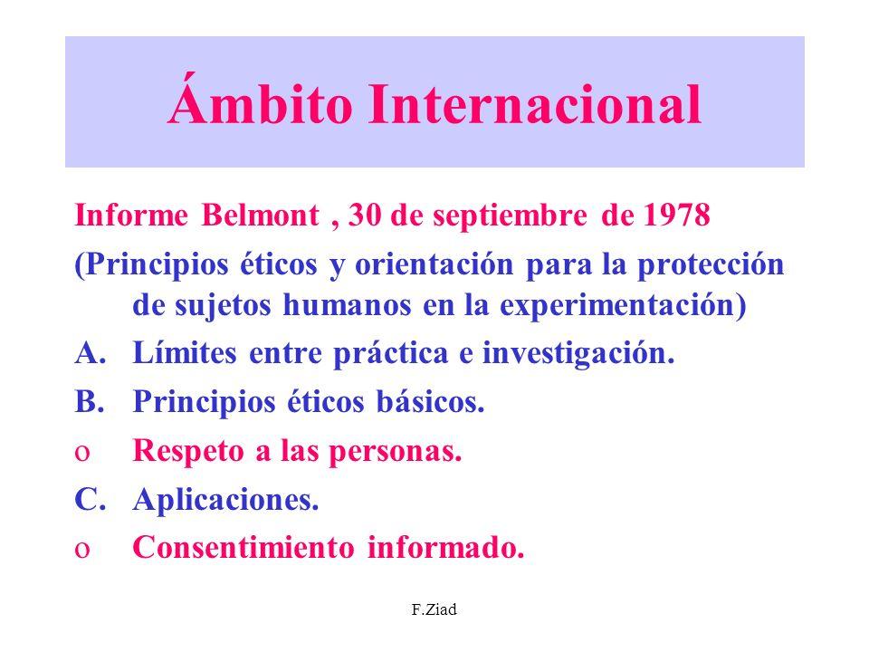 Ámbito Internacional Informe Belmont , 30 de septiembre de 1978