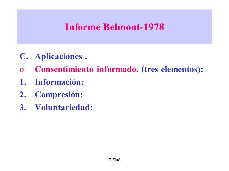 Informe Belmont-1978 Aplicaciones .