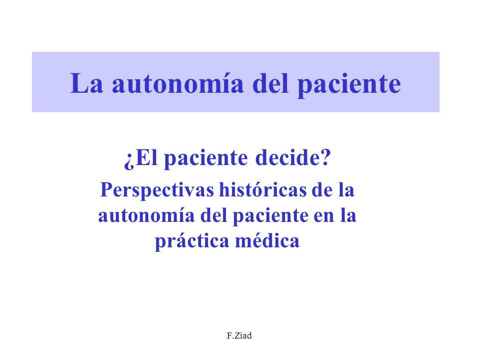 La autonomía del paciente