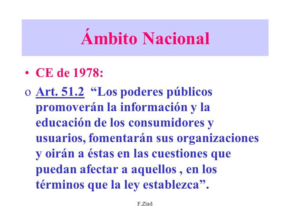Ámbito Nacional CE de 1978: