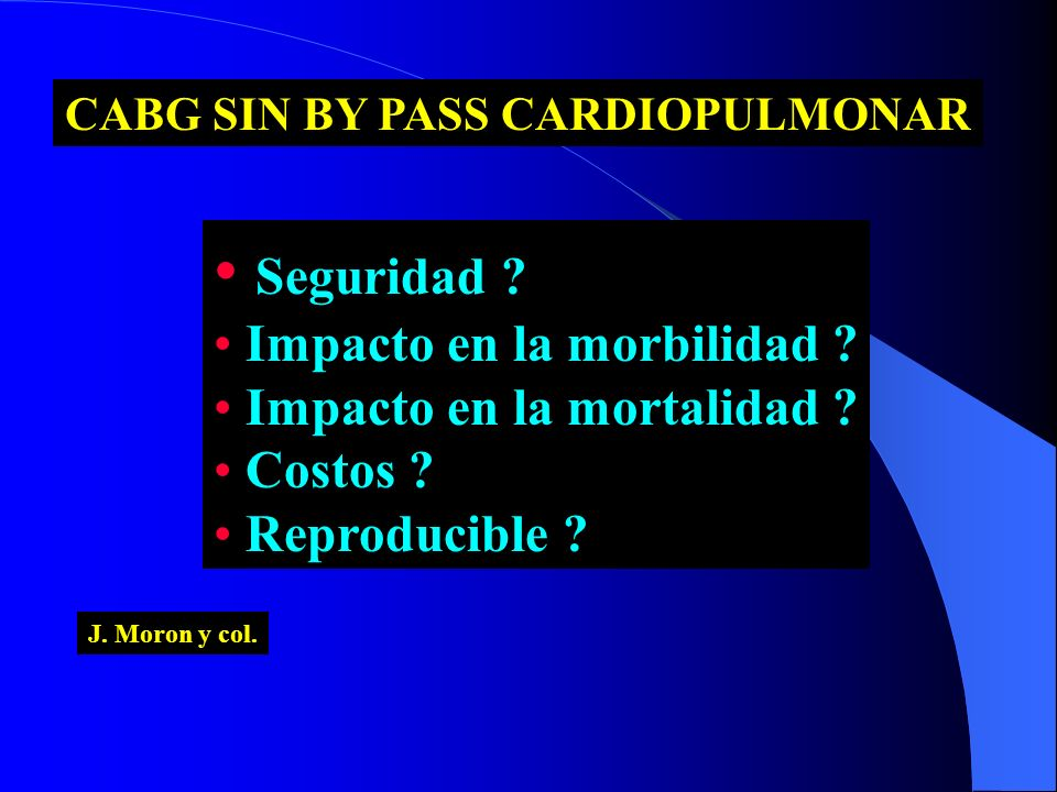 CABG SIN BY PASS CARDIOPULMONAR