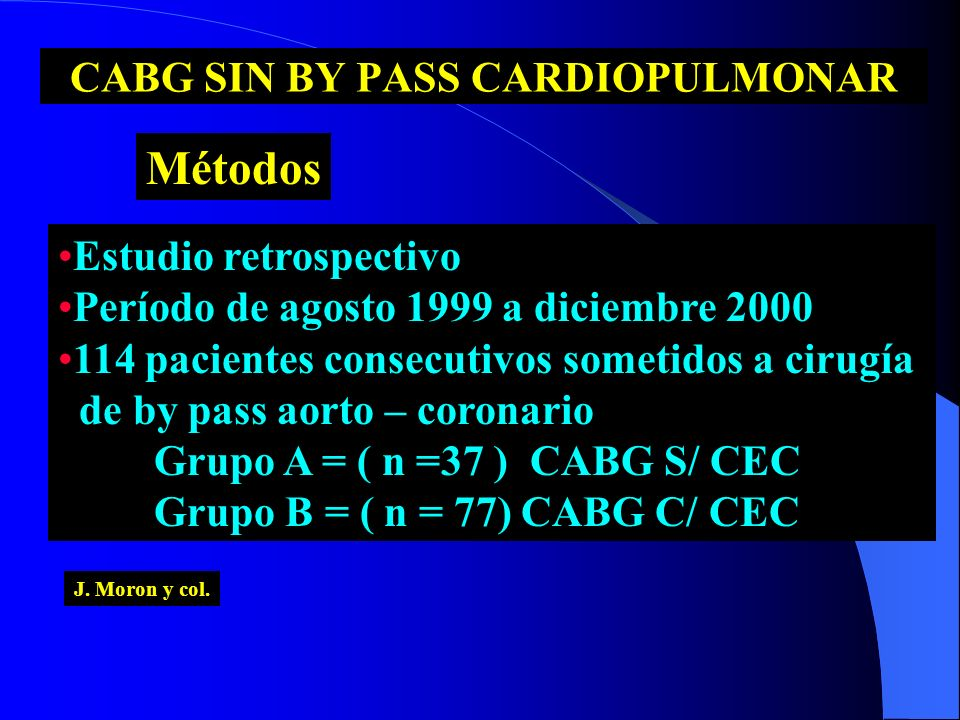 CABG SIN BY PASS CARDIOPULMONAR