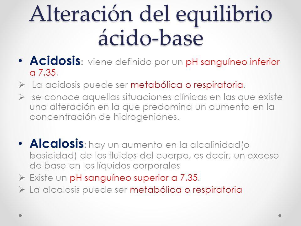 Alteración del equilibrio ácido-base
