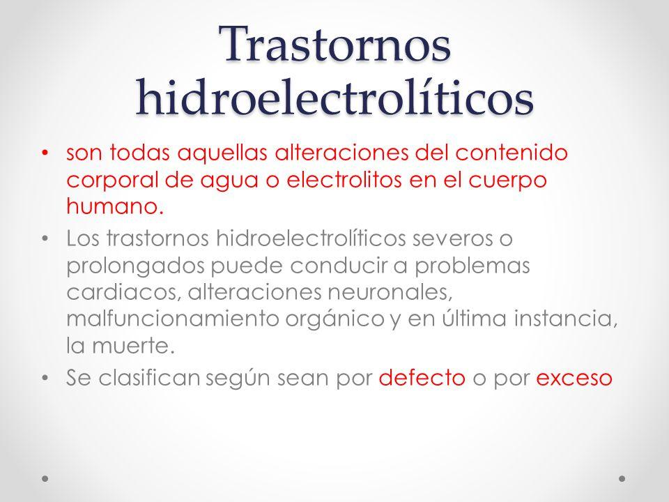 Trastornos hidroelectrolíticos