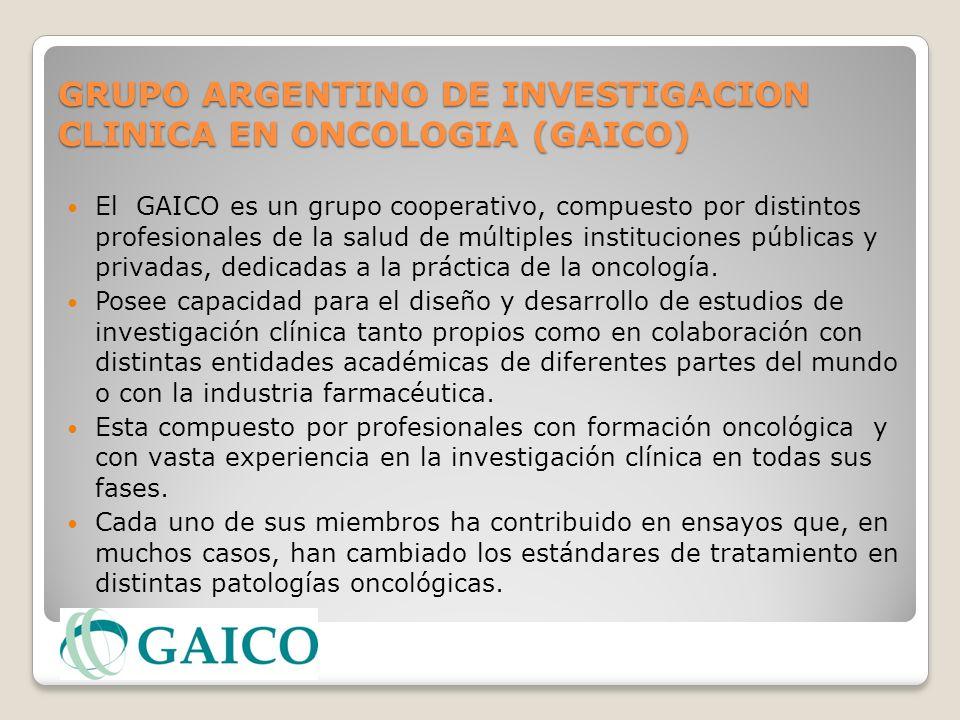 GRUPO ARGENTINO DE INVESTIGACION CLINICA EN ONCOLOGIA (GAICO)