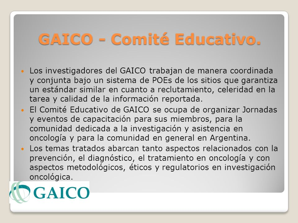 GAICO - Comité Educativo.