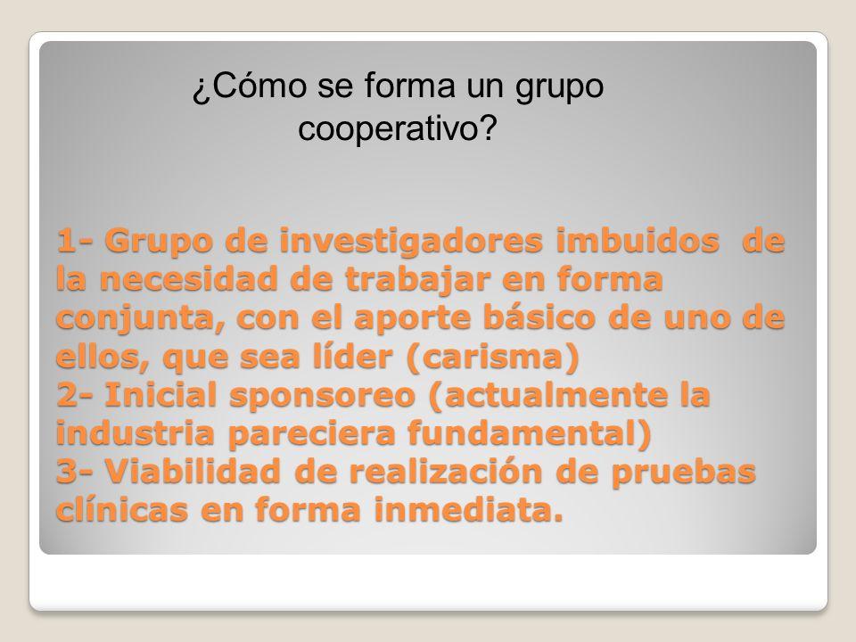 ¿Cómo se forma un grupo cooperativo