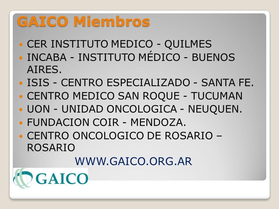 GAICO Miembros WWW.GAICO.ORG.AR CER INSTITUTO MEDICO - QUILMES