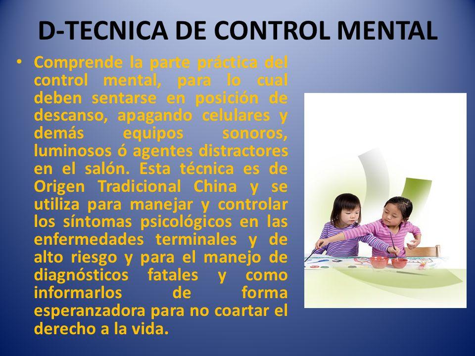 D-TECNICA DE CONTROL MENTAL