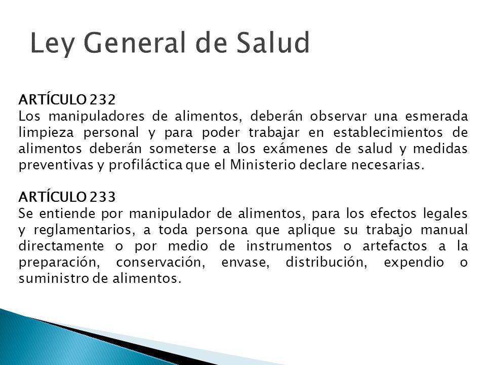 Ley General de Salud ARTÍCULO 232