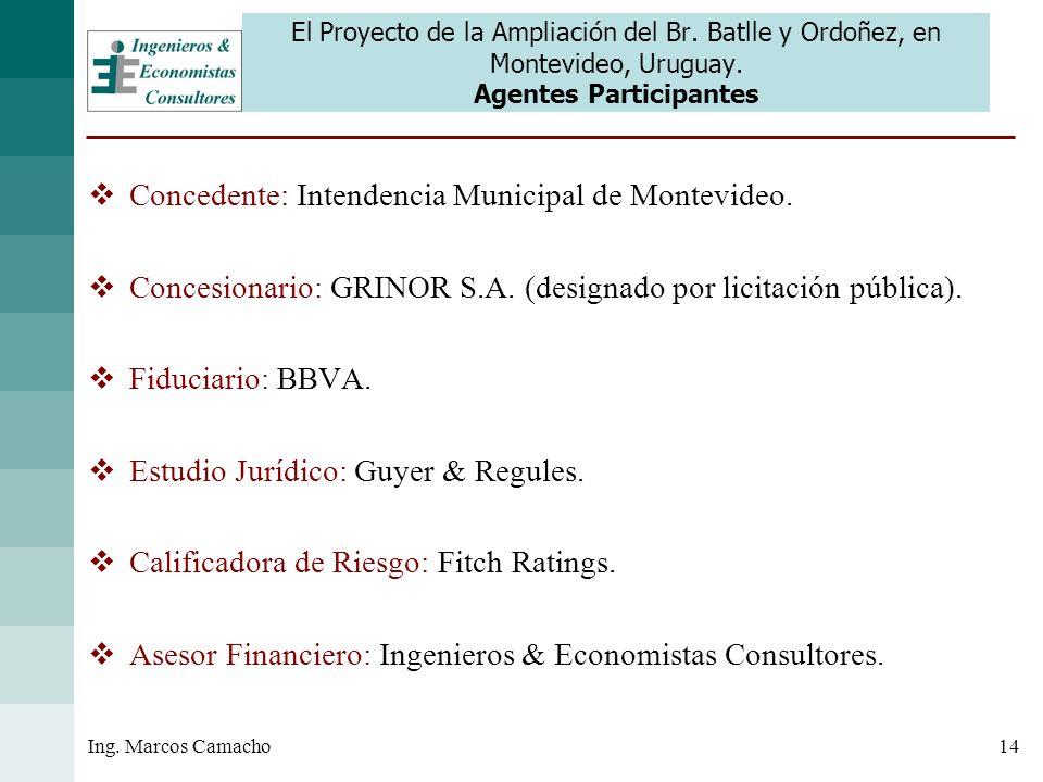 Concedente: Intendencia Municipal de Montevideo.