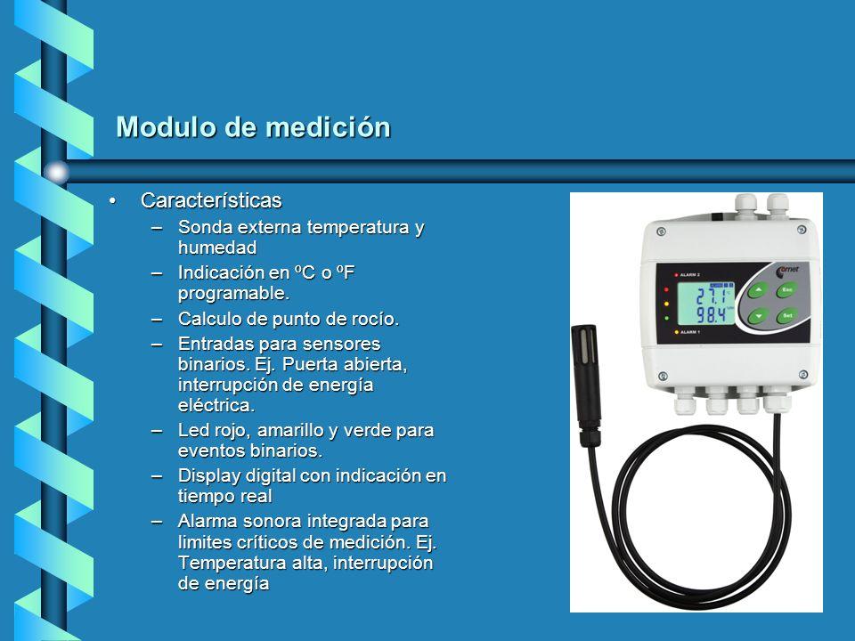 Modulo de medición Características Sonda externa temperatura y humedad
