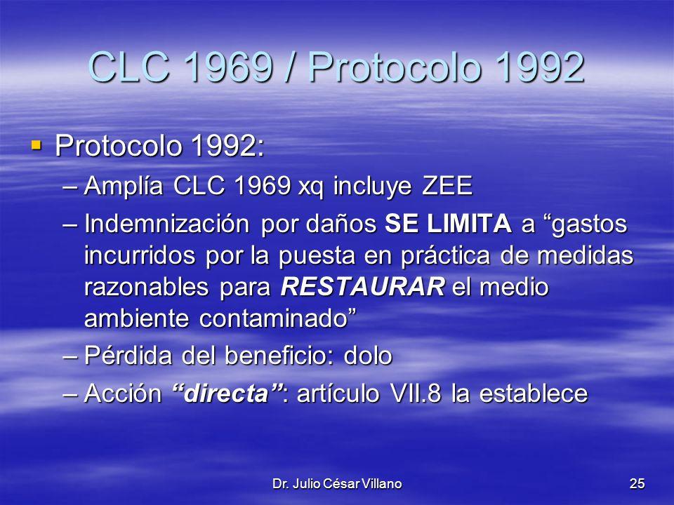 CLC 1969 / Protocolo 1992 Protocolo 1992: