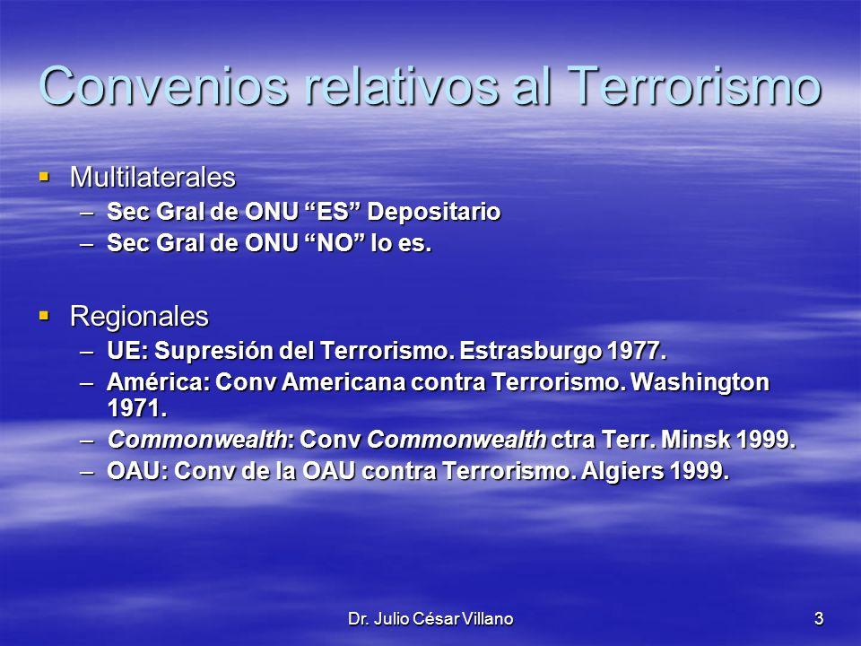 Convenios relativos al Terrorismo