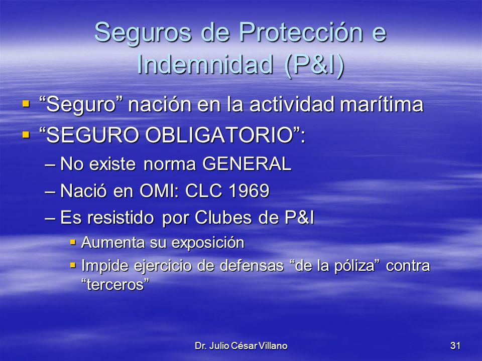 Seguros de Protección e Indemnidad (P&I)