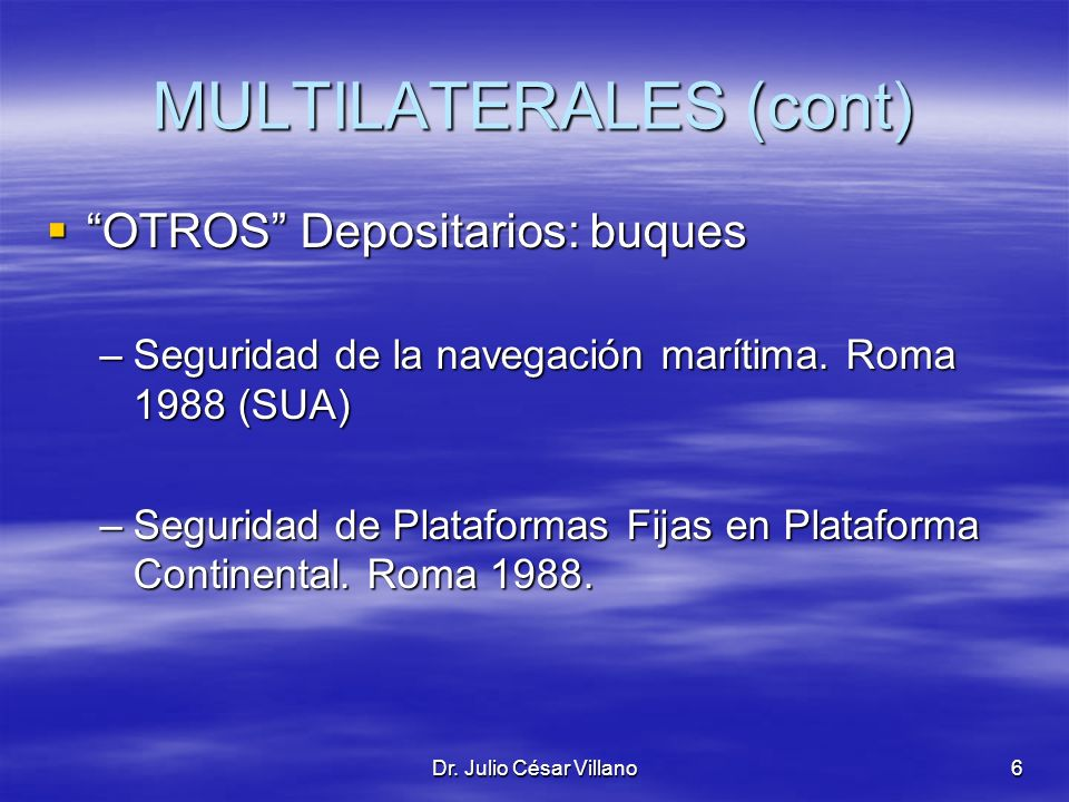 MULTILATERALES (cont)