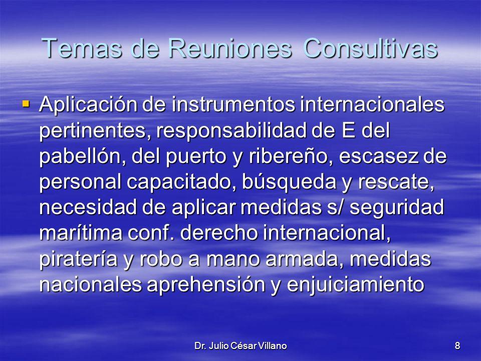 Temas de Reuniones Consultivas