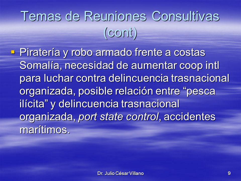Temas de Reuniones Consultivas (cont)