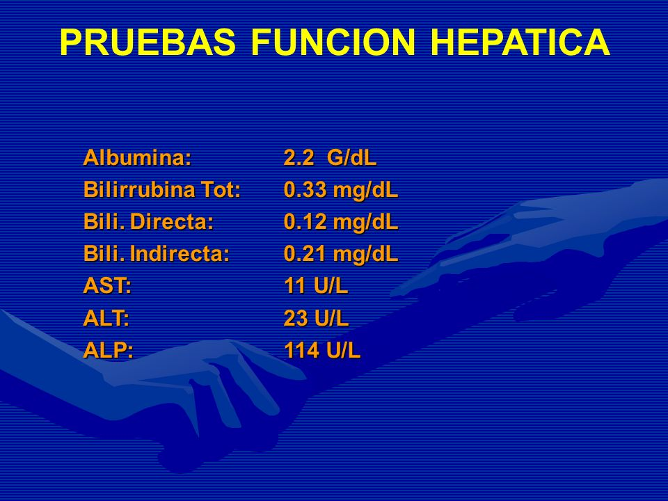 PRUEBAS FUNCION HEPATICA